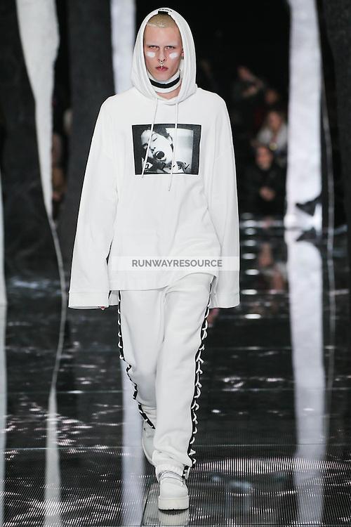 A model walks the runway wearing PUMA x FENTY by Rihanna Fall 2016 during New York Fashion Week on February 12, 2016