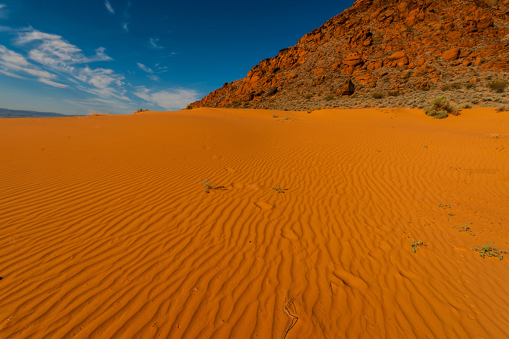 Sand dunes, Snow Canyon State Park near St. George, Utah USA.