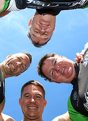 Durban. 120718. Rugby Legends John Smit, Danie Gerber, Stephen Terblanche and John Comley who will be in action at Kingspark Rugby staduim where the Sharks will face off againts the Jaguares during the Vodacom Super Rugy match. Picture Leon Lestrade. African News Agency/ANA.