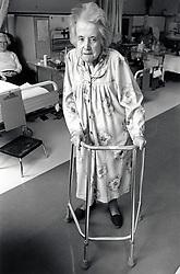 Elderly patient, City Hospital, Nottingham UK 1991