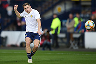 Scotland forward James Forrest (7) (Celtic) warming up during the UEFA European 2020 Qualifier match between Scotland and Russia at Hampden Park, Glasgow, United Kingdom on 6 September 2019.