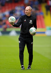 """Sheffield United Assistant Manager Alan Knill during the Carabao Cup, Second Round match at Bramall Lane, Sheffield. PRESS ASSOCIATION Photo. Picture date: Tuesday August 22, 2017. See PA story SOCCER Sheff Utd. Photo credit should read: Tim Goode/PA Wire. RESTRICTIONS: EDITORIAL USE ONLY No use with unauthorised audio, video, data, fixture lists, club/league logos or """"live"""" services. Online in-match use limited to 75 images, no video emulation. No use in betting, games or single club/league/player publications."""