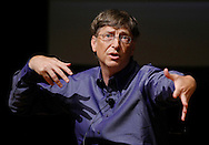 Bill Gates, chairman, Microsoft Corp. speaks at the University of Washington in Seattle, the last stop in the Bill Gates Unplugged tour. (AP Photo/John Froschauer)