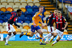 Harry Charsley of Mansfield Town runs through the Bolton Wanderers defense - Mandatory by-line: Ryan Crockett/JMP - 17/02/2021 - FOOTBALL - One Call Stadium - Mansfield, England - Mansfield Town v Bolton Wanderers - Sky Bet League Two