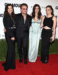 November 14, 2016 - Hollywood, California, U.S. - Bono, Ali Hewson, Eve Hewson and Jordan Hewson arrives for the Glamour Women of the Year Awards 2016 at the Neuehouse Hollywood. (Credit Image: © Lisa O'Connor via ZUMA Wire)