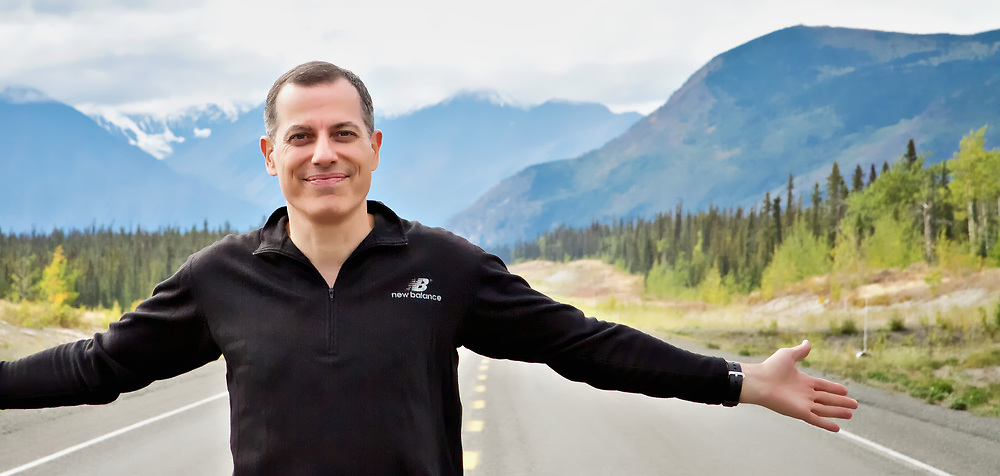 Photographer Dean Oros, Alaska Highway, Yukon