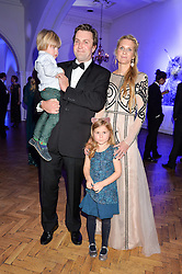 MR CHARLIE & LADY JUBIE WIGAN and their children CAIUS WIGAN and ALIENA WIGAN at the Sugarplum Dinner in aid Sugarplum Children a charity supporting children with type 1 diabetes and raising funds for JDRF, the world's leading type 1 diabetes research charity held at One Marylebone, London on 18th November 2015.