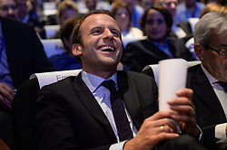 Former French Economy Minister Emmanuel Macron attending the European Reformists Summit at Musee des Confluences in Lyon, France on September 24, 2016. Photo by Julien Reynaud/APS-Medias/ABACAPRESS.COM