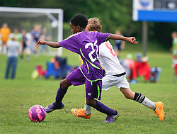 30 April 2016. Memphis, Tennessee. <br /> The Adidas Premier Invitational hosted by the Mike Rose Soccer Complex. <br /> New Orleans Jesters Youth Academy U10 Purple v Koinonia FC Fire (TN).<br /> Jesters win 4-1.<br /> Photo©; Charlie Varley/varleypix.com
