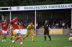 Marlon Pack of Bristol City scores a penalty - Photo mandatory by-line: Dougie Allward/JMP - Mobile: 07966 386802 - 05/07/2015 - SPORT - Football - Bristol - Brislington Stadium - Pre-Season Friendly