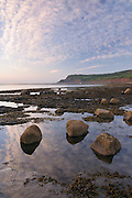 Looking towards Ravenscar from the beach at Boggle Hole, North York Moors