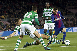 December 5, 2017 - Barcelona, Catalonia, Spain - Leo Messi during the UEFA Champions League match between FC Barcelona and Sporting CP Lisboa at the Camp Nou Stadium in Barcelona, Catalonia, Spain on December 5,2017  (Credit Image: © Miquel Llop/NurPhoto via ZUMA Press)