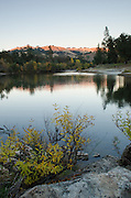 Evening light on the hills above the South Fork American River, near Lotus, California