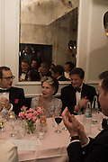 LESLIE CARON, Nicky Haslam hosts dinner at  Gigi's for Leslie Caron. 22 Woodstock St. London. W1C 2AR. 25 March 2015