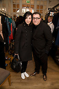 Sharleen Spiteri; Alber Elbaz, The Launch of the Lanvin store on Mount St. Presentation and cocktails.  London. 26 March 2009