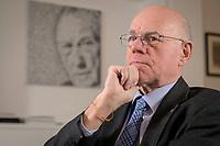 17 DEC 2019, BERLIN/GERMANY:<br /> Norbert Lammert, CDU, Vorsitzender der Konrad-Adenauer-Stiftung, KAS, waehrend einem Interview, in seinem Buero, Konrad-Adenauer-Stiftung<br /> IMAGE: 20191217-02-019<br /> KEYWORDS: Büro