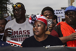 August 19, 2017 - Boston, Massachusetts, U.S. - Thousands of Counter Protesters gathered around Reggie Lewis Center to get ready for antifascist protest march to Boston Common in Boston, Massachusetts. (Credit Image: © Go Nakamura via ZUMA Wire)