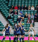 Twickenham, Surrey. UK. Lock Karie COLIS, during the 2017 Women's Varsity Rugby Match, Oxford vs Cambridge Universities. RFU Stadium, Twickenham. Surrey, England.<br /> <br /> Thursday  07.12.17  <br /> <br /> [Mandatory Credit Peter SPURRIER/Intersport Images]
