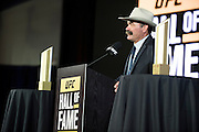 LAS VEGAS, NV - JULY 10:  Don Frye speaks as he is inducted into the UFC Hall of Fame at the Las Vegas Convention Center on July 10, 2016 in Las Vegas, Nevada. (Photo by Cooper Neill/Zuffa LLC/Zuffa LLC via Getty Images) *** Local Caption *** Don Frye