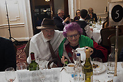 WILFRED D'EATH, MARY KENNY, Oldie Awards, Simpsons in the Strand. London. 29 January 2019