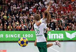 11-04-2015 NED: PKC SWKgroep - TOP Quoratio, Rotterdam<br /> Korfbal Leaguefinale in een volgepakt Ahoy wordt gewonnen door PKC met 22-21 / Mady Tims