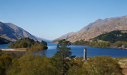 """Images taken on a beautiful sunny spring morning at Glenfinnan Monument.  Glenfinnan is a village in Lochaber area of the Highlands of Scotland. In 1745 The Jacobite Rising began when Prince Charles Edward Stuart (""""Bonnie Prince Charlie"""") raised his standard on the shores of Loch Shiel. Seventy years later, the 18 m (60 ft) Glenfinnan Monument, at the head of the loch, was erected to commemorate the historic event. .... (c) Stephen Lawson 
