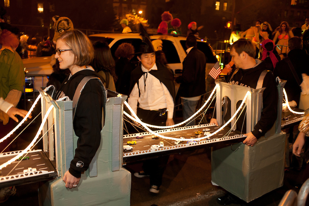 The Broolyn Bridge in the parade