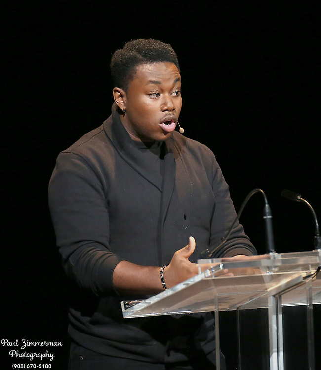 """NEW YORK, NY - JANUARY 29:  Actor Marcel Spears speaks at the 2016 """"Tina Brown Live Media's American Justice Summit"""" at Gerald W. Lynch Theatre on January 29, 2016 in New York City.  (Photo by Paul Zimmerman/WireImage)"""