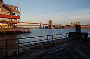 View from Pier 17 of the Brooklyn Bridge NYC