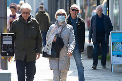© Licensed to London News Pictures 18/05/2021.  Sevenoaks, UK. Shoppers out and about in Sevenoaks High Street in Kent today as the Indian Covid strain has been detected in parts of the county. According to local media reports up to twenty cases have been recorded in one week in Kent. Photo credit:Grant Falvey/LNP