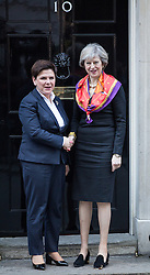 © Licensed to London News Pictures. 28/11/2016. London, UK. British Prime Minister Theresa May meets Polish Prime Minister Beata Szydło in Downing Street. Photo credit : Tom Nicholson/LNP