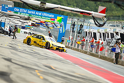02.08.2014, Red Bull Ring, Spielberg, AUT, DTM Red Bull Ring, Qualifying, im Bild feature Boxengasse, Timo Glock, (GER, Deutsche Post BMW M4 DTM) // during the DTM Championships 2014 at the Red Bull Ring in Spielberg, Austria, 2014/08/02, EXPA Pictures © 2014, PhotoCredit: EXPA/ M.Kuhnke
