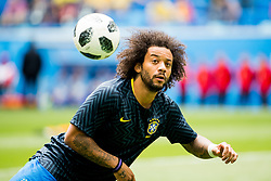 June 22, 2018 - Sankt Petersburg, Russia - 180622 Marcelo of Brazil during warm-up ahead of the FIFA World Cup group stage match between Brazil and Costa Rica on June 22, 2018 in Sankt Petersburg..Photo: Petter Arvidson / BILDBYRÃ…N / kod PA / 92075 (Credit Image: © Petter Arvidson/Bildbyran via ZUMA Press)