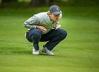 HILVERSUM - Kiet van der Weele. Netherlands vs Austria  for place 5.  ELTK Golf 2020 The Dutch Golf Federation (NGF), The European Golf Federation (EGA) and the Hilversumsche Golf Club will organize Team European Championships for men.  COPYRIGHT KOEN SUYK