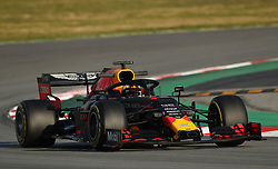 Red Bull Max Verstappen during day one of pre-season testing at the Circuit de Barcelona-Catalunya.