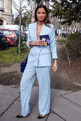 Malika Menard arriving at the Leonard show as part of the Paris Fashion Week Womenswear Fall/Winter 2018/2019 in Paris, France on March 5, 2018. Photo by Julien Reynaud/APS-Medias/ABACAPRESS.COM