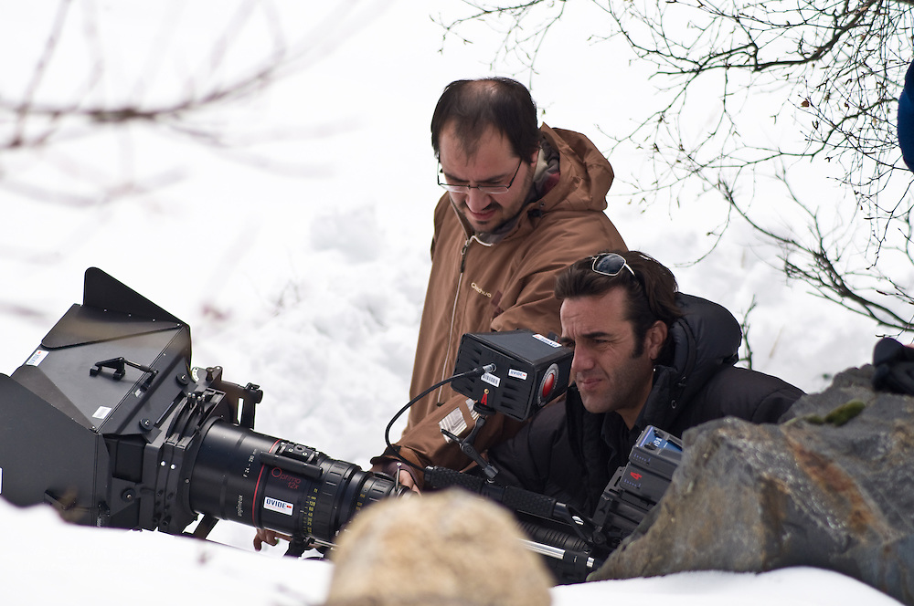 A long lens attached to the Red One to capture an action scene.