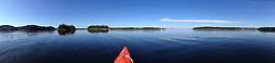 Panorama of Ram, Holbrook and Nautilus Islands and Kayak, Castine, Maine, US