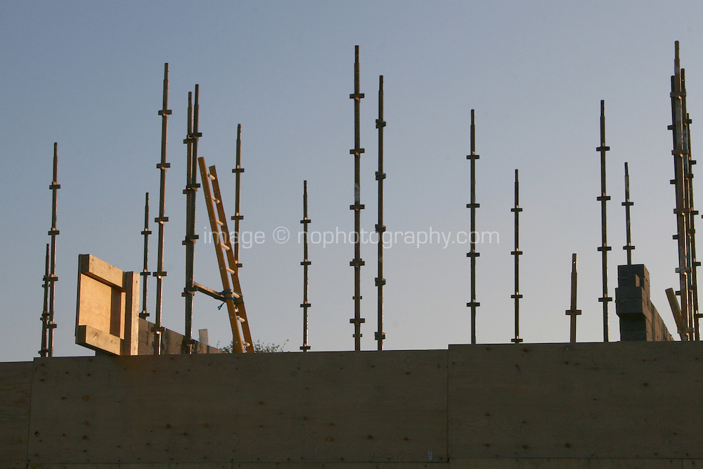Building site scaffolding