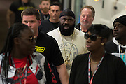 Houston, Texas - February 19, 2016: Kimbo Slice arrives for his fight against Dada 5000 during Bellator 149 at the Toyota Center in Houston, Texas on February 19, 2016. (Cooper Neill for ESPN)