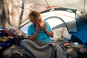 Homeless woman Renee, who lives in this tent, is being forced to move by the Sacramento police.