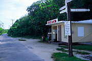Quite roads Texaco petrol station, Cayman Brac, Cayman Islands, British West Indies,