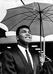 June 3, 2016 - File - MUHAMMAD ALI, the three time heavyweight boxing champion, has died at the age of 74. He had been fighting a respiratory illness. Pictured: Sep 02, 1966; Frankfurt, Germany; Cassius Clay aka Muhammad Ali, world champion in heavy weight, in Frankfurt to have a title fight to European champion Karl Mildenberger. (Credit Image: © Keystone Press Agency/Keystone USA via ZUMAPRESS.com)