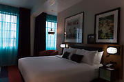 A king room inside Hotel Indigo along East Washington Avenue in Madison, WI on Wednesday, April 17, 2019.