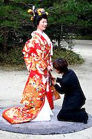 Meiji Shrine Wedding Kimono Preparations