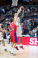 Real Madrid Jeffery Taylor and CSKA Moscu Sergio Rodriguez during Turkish Airlines Euroleague match between Real Madrid and CSKA Moscu at Wizink Center in Madrid, Spain. October 19, 2017. (ALTERPHOTOS/Borja B.Hojas)
