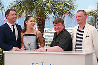 Vladimir Vdovichenkov, Yelena Lyadova, Roman Madyanov and Aleksey Serebryakov at the photo call for the film Leviathan at the 67th Cannes Film Festival, Friday 23rd May 2014, Cannes, France.