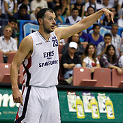 Efes Pilsen's Ermal KURTOGLU during their Turkish Basketball league Play Off Final fifth leg match Efes Pilsen between Fenerbahce Ulker at the Ayhan Sahenk Arena in Istanbul Turkey on Sunday 30 May 2010. Photo by Aykut AKICI/TURKPIX