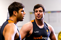 Francois Venter and Dean Hammond of Worcester Warriors during preseason training ahead of the 2019/20 Gallagher Premiership Rugby season - Mandatory by-line: Robbie Stephenson/JMP - 06/08/2019 - RUGBY - Sixways Stadium - Worcester, England - Worcester Warriors Preseason Training 2019