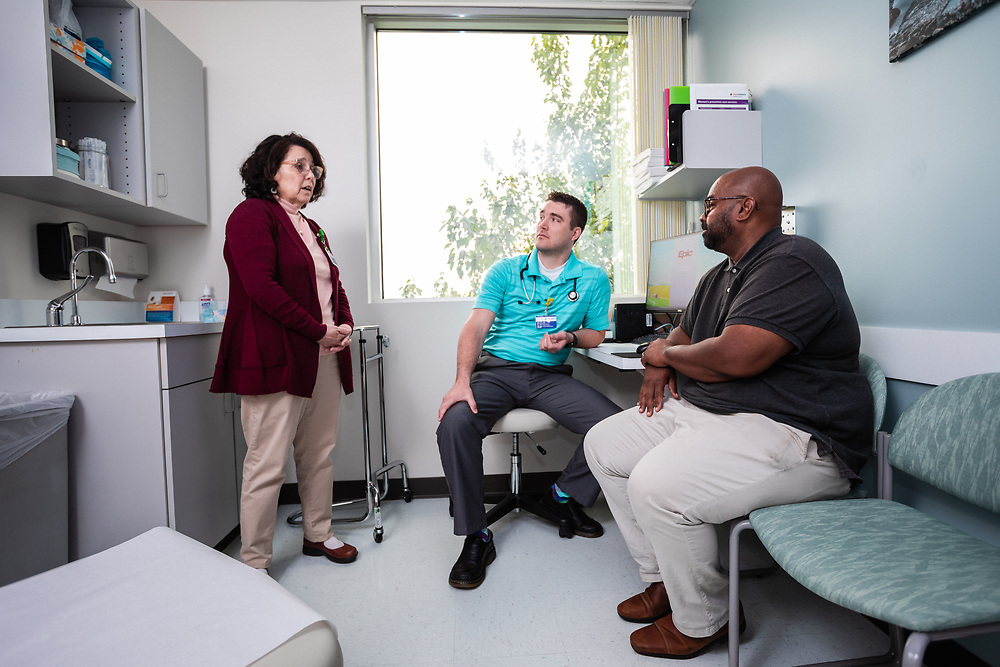 Providence Integrated Behavioral Health clinic in Medford, OR. Photographed by Jason Quigley for CareOregon in May 2019.